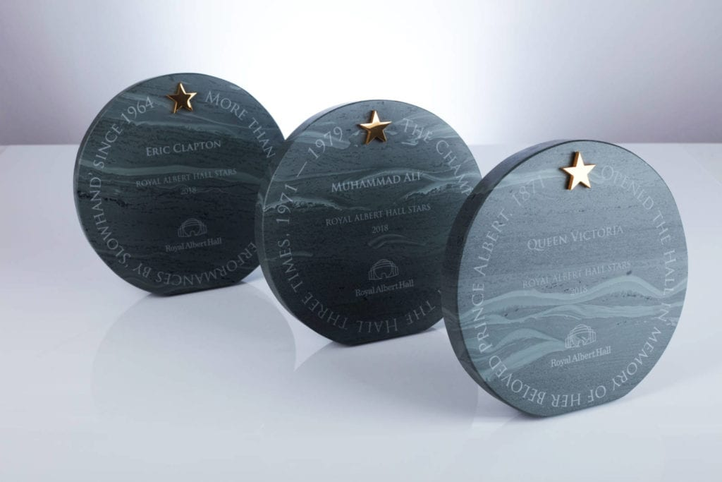 Royal Albert Hall awards made from natural stone, a more sustainable option