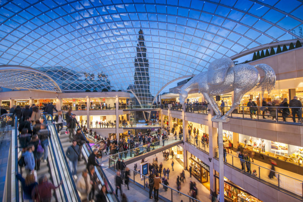 Photograph of the inside of Trinity Leeds