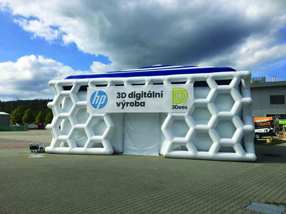 An inflatable, accessible structure created by Tectoniks