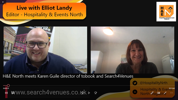 Hospitality and Events North meets Karen Guile – Director of ToBook and Search4Venues.